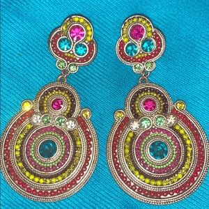 Jewelry - Gorgeous Colorful Statement Earrings